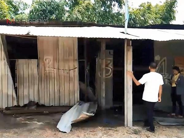 ไฟไหม้แคมป์คนงานที่สงขลาวอด 3 ห้อง สุดเศร้าชุดนักเรียนลูกถูกเผาไม่เหลือ