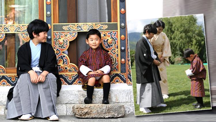 ชาวเน็ตชื่นชมความน่ารักของสองเจ้าชายน้อย ณ. ภูฏาน