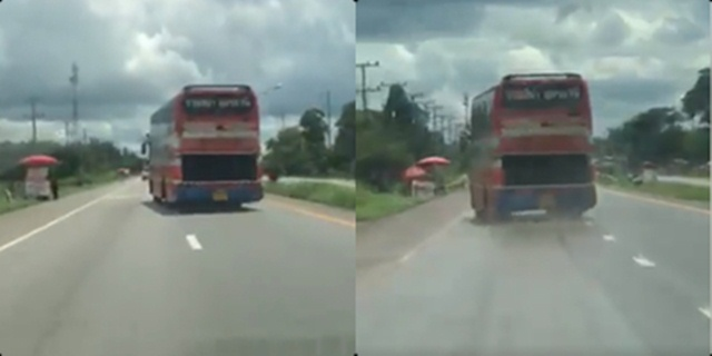 โชเฟอร์พาเสียว รถบัสโดยสาร สายโคราช-อุดรฯ ส่ายไปมายิ่งกว่างู (ชมคลิป)