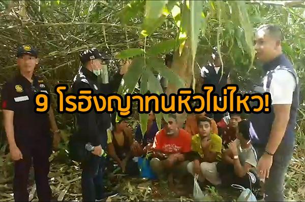ช่วยเพิ่มอีก 9 ชาวโรฮิงญาขณะซ่อนตัวในป่า ทนหิวไม่ไหวออกขอข้าวชาวบ้านกิน