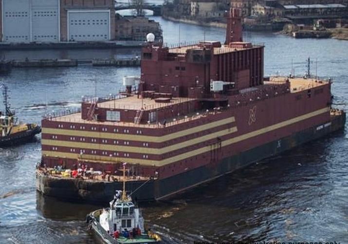 รัสเซียเตรียมส่ง 'โรงไฟฟ้านิวเคลียร์ลอยน้ำ' แห่งแรกของโลกเดินทางข้าม 'อาร์กติก'