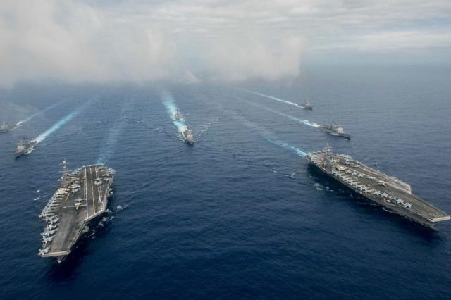 """สหรัฐฯ-อาเซียนเตรียมจัด """"ซ้อมรบร่วมทางทะเล"""" เดือนหน้า"""