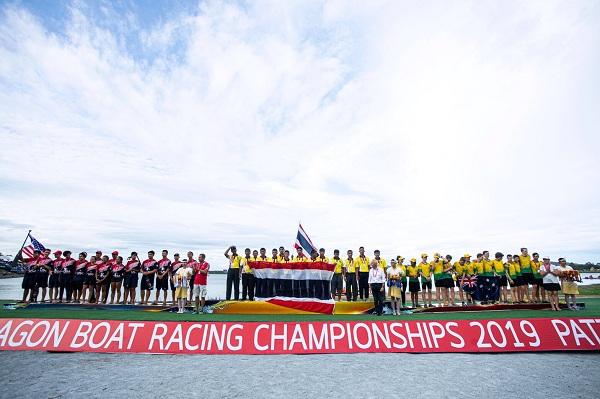 """สุดยอดฝีพายไทยคว้าอีก 11 ทองปิด """"เรือยาวมังกรชิงแชมป์โลกครั้งที่ 14"""""""