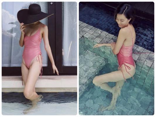 """ยอมความเว้าสูง! """"กีฟ ดราภดา"""" ในชุดว่ายน้ำสุดซี๊ด"""