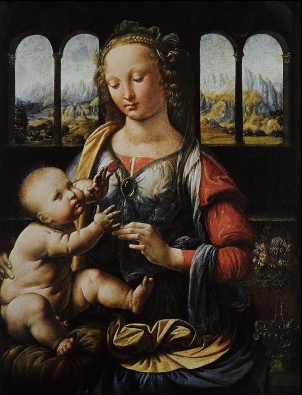 Madonna col Bambino (Madonna del Garofano) - Monaco, Alte Pinakothek