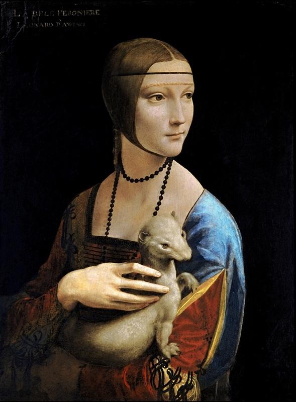 La Dama con lermellino (Cecilia Gallerani) - Cracovia, Czartoryski Muzeum