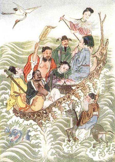 ภาพจาก Myths and Legends of China, 1922 โดย อี. ที. ซี. เวอร์เนอร์ (วิกิพีเดีย)