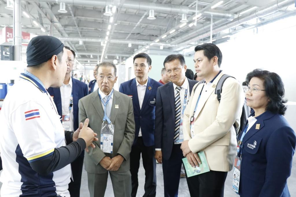 รมว.แรงงาน เยือนสนามแข่งทักษะระดับโลก ให้กำลังใจเยาวชนไทย