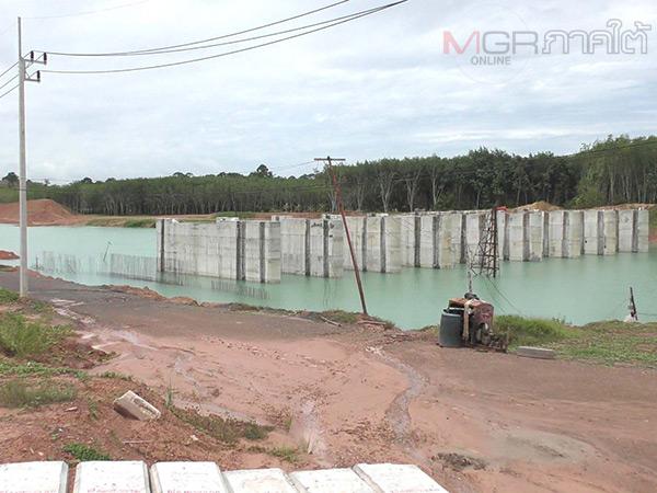รองอธิบดีกรมชลประทานลงเร่งแก้ปัญหาโครงการก่อสร้างระบบระบายแม่น้ำตรังที่ล่าช้า