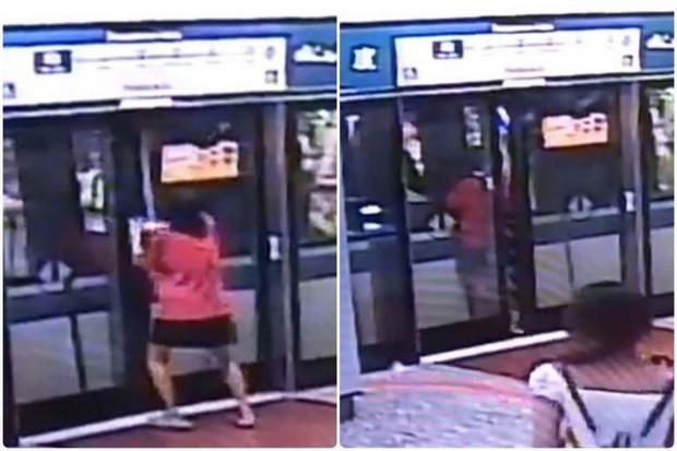 แพร่คลิปประจาน!!สาวไม่สนโลกงัดประตูขึ้นรถไฟฟ้าหลังมาไม่ทัน(ชมวิดีโอ)