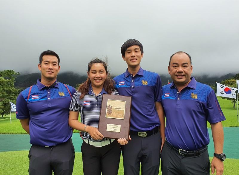 """""""เด่นวิทย์-อาฒยา"""" พาทีมไทยรั้งรองแชมป์ศึก เอพีจีซี ที่ญี่ปุ่น"""