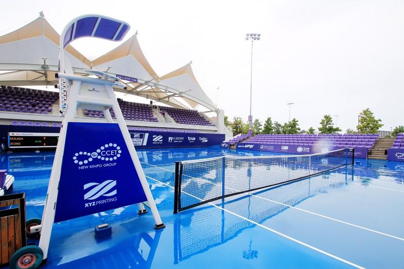 ฝนป่วน ศึกเทนนิสแคล-คอมพ์ฯ เลื่อนแข่ง