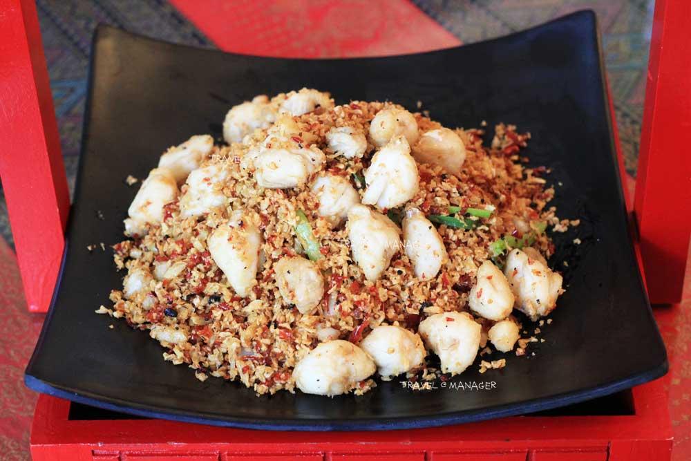 เนื้อปูก้อนผัด Spicy Crab
