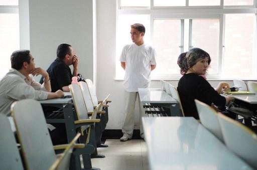 เทคโนโลยีดังกล่าวช่วยจับตาดูพฤติกรรมของนักเรียนระหว่างเรียน (แฟ้มภาพเอเอฟพี)