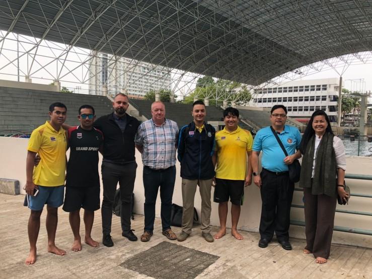 """""""ตัวแทน EU"""" ตรวจ """"สระว่ายน้ำไทย"""" ก่อนรับหน้าเสื่อจัดแข่ง """"Nations Cup 2020"""""""