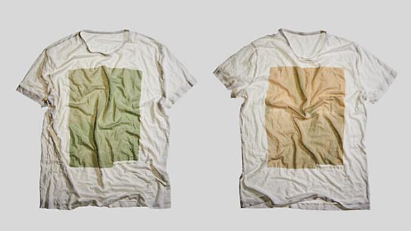 สีสกัดจากสาหร่ายจะทำให้เสื้อเปลี่ยนสีเมื่อใส่ไปนานๆ (ภาพจากเว็บไซต์วอลเลแบ็ก)