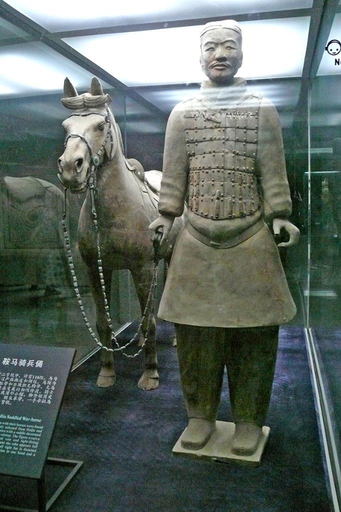 หุ่นนายทหารจูงม้าที่พิพิธภัณฑ์