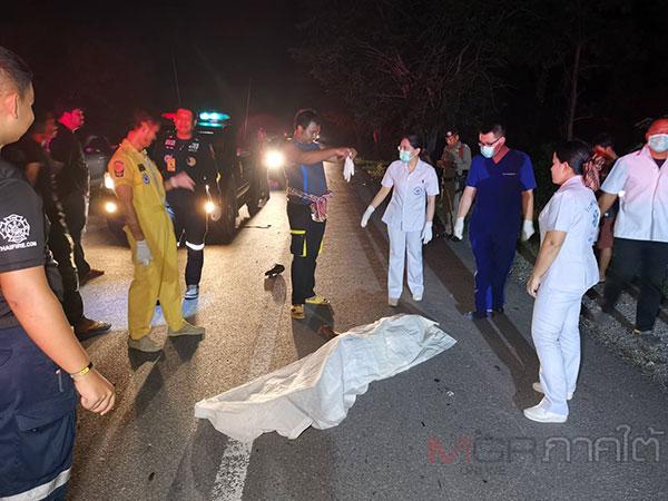 พัทลุงเกิดอุบัติเหตุทางถนน 2 จุดซ้อน มีผู้เสียชีวิต 1 บาดเจ็บ 1