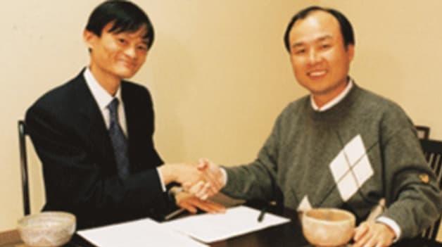 Jack Ma และ Masayoshi Son จับมือกันแน่นแฟ้น บรรลุดีล 20 ล้านดอลลาร์สหรัฐ ทั้งที่ Alibaba เพิ่งก่อตั้งไม่ถึง 1 ปี