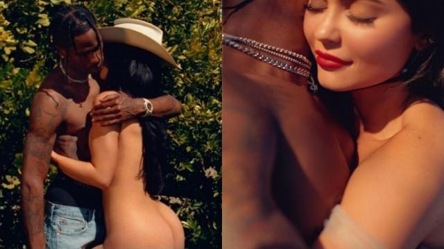 """""""ไคลี เจนเนอร์"""" น้องเล็กแต่เผ็ดมากยืนเปลือยอวดบั้นท้ายสะบึมถ่ายรูปคู่ผัวเตรียมลง Playboy"""