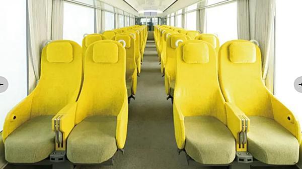 เบาะที่นั่งสีมัสตาร์ดให้ความรู้สึกหรูหราและผ่อนคลาย (ภาพจาก SANAA)
