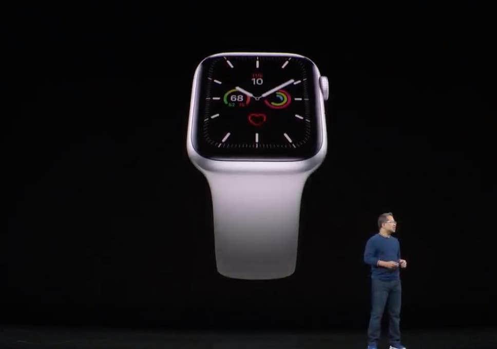 Apple Watch Series 5 จอใหญ่ขึ้น