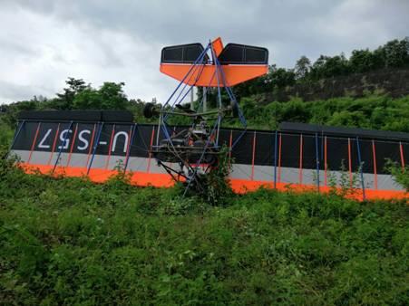 หวิดสลด!เครื่องร่อนเล็กตก-ปักหัวโหม่งเนินดินหน้าเขื่อนแม่กวงฯนักท่องเที่ยวไทย-จีนเจ็บ 2