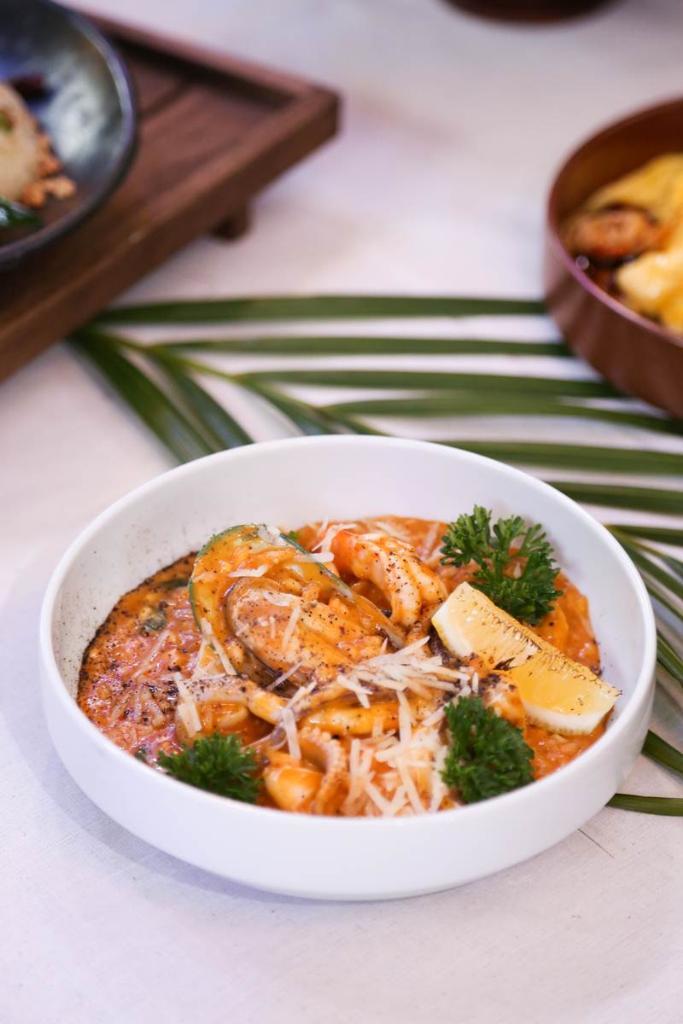 Seafood Prawn Risotto 380 บาท