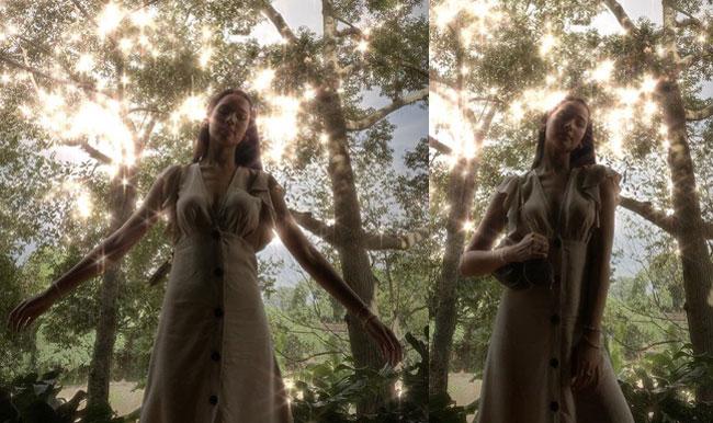 """แสงอาทิตย์ยังต้องหลบ """"ญาญ่า อุรัสยา"""" สวยดุจนางฟ้าฝีมือ """"ณเดชน์"""" กดชัตเตอร์"""