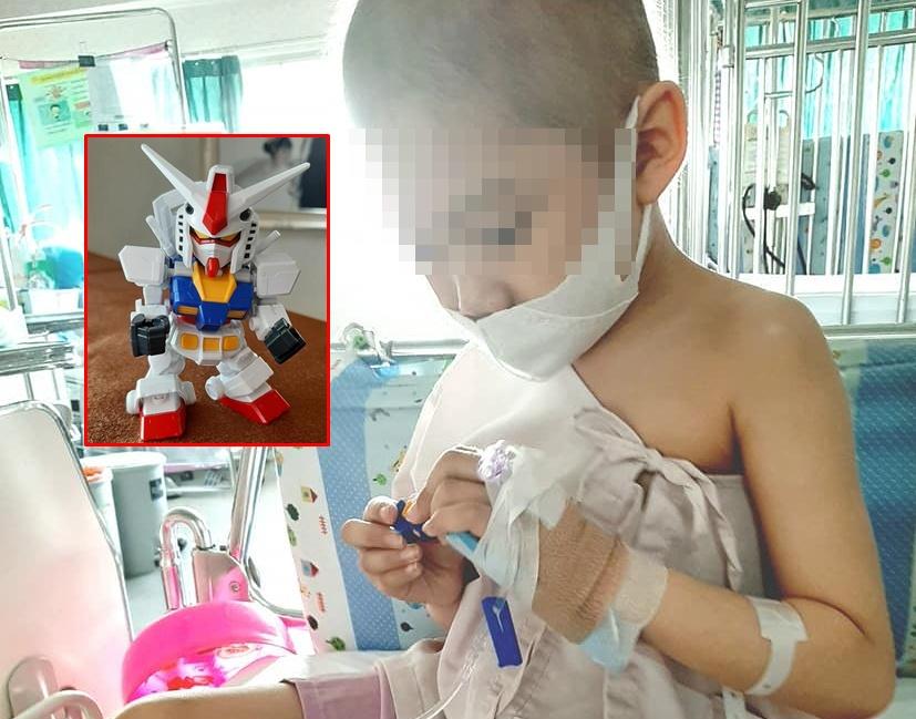 """""""น้องโทบี้เด็กน้อยสู้มะเร็ง"""" เปิดประมูลกันดั้มประกอบเองช่วยพี่น้องชาวอุบลฯ"""