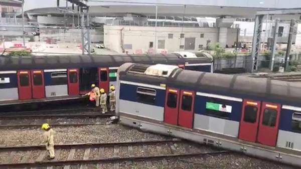 รถไฟ MTR ฮ่องกง ตกรางบริเวณสายตะวันออกในวันที่ 17 ก.ย. 2019 (ภาพ รอยเตอร์ส)