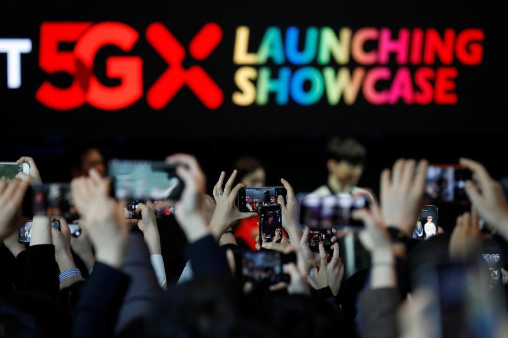 บรรยากาศงานเปิดบริการ 5G ของ SK Telecom วันนี้เกาหลีใต้ถือเป็น 1 ในเพชร 5G ที่ฉายรัศมีโดดเด่นที่สุดในโลก