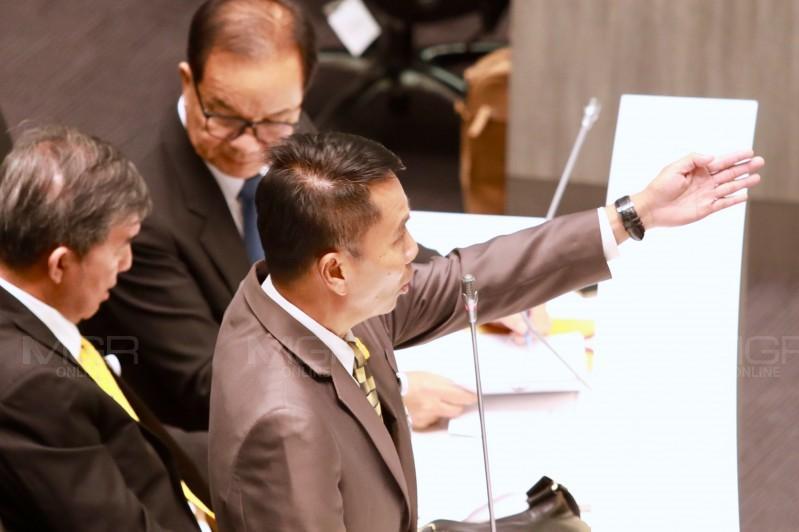 นายสุทิน คลังแสง ส.ส.พรรคเพื่อไทย ประธานวิปฝ่ายค้าน