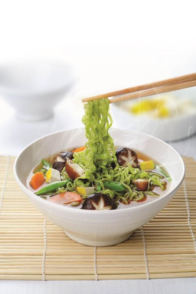 Moroheiya Shiitake Vegetarian บะหมี่ผักโมโรเฮยะ จาก สยาม ทาคาชิมายะ