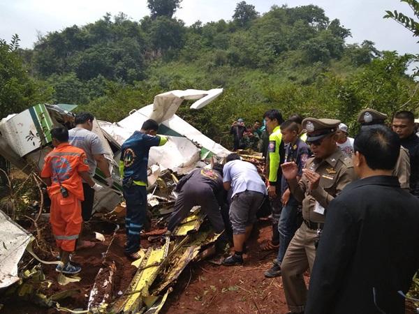 ผู้เชี่ยวชาญ ลงพื้นที่เร่งเก็บหลักฐานเพื่อตรวจสอบหาสาเหตุเครื่องบินเกษตรตก