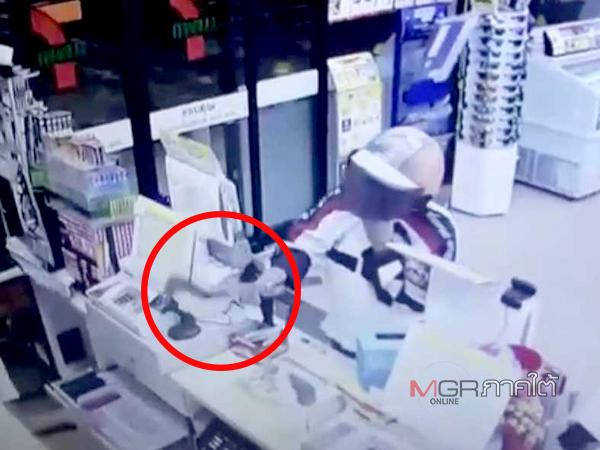 อารมณ์ชั่ววูบ! เงินขาดมือควงพร้าบุกปล้นร้านสะดวกซื้อ ตร.เมืองคอนรวบตัวทันควัน