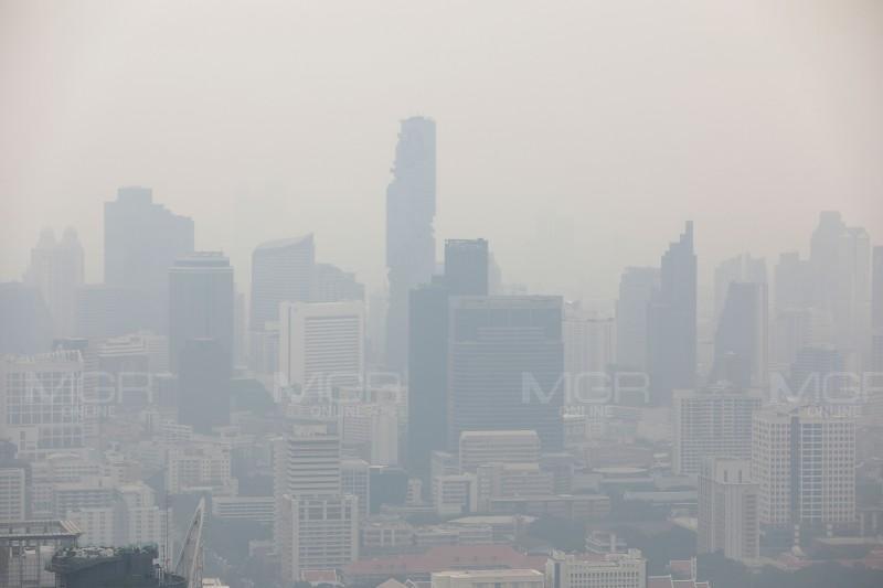 เขตหลักสี่สั่งเข้มลดฝุ่น หลังค่า PM 2.5 แตะสีส้ม