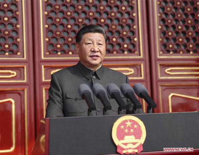 สี จิ้นผิง ประกาศความภาคภูมิสาธารณรัฐประชาชนจีน มุ่งบรรลุเป้าหมาย 200 ปีพรรคฯ