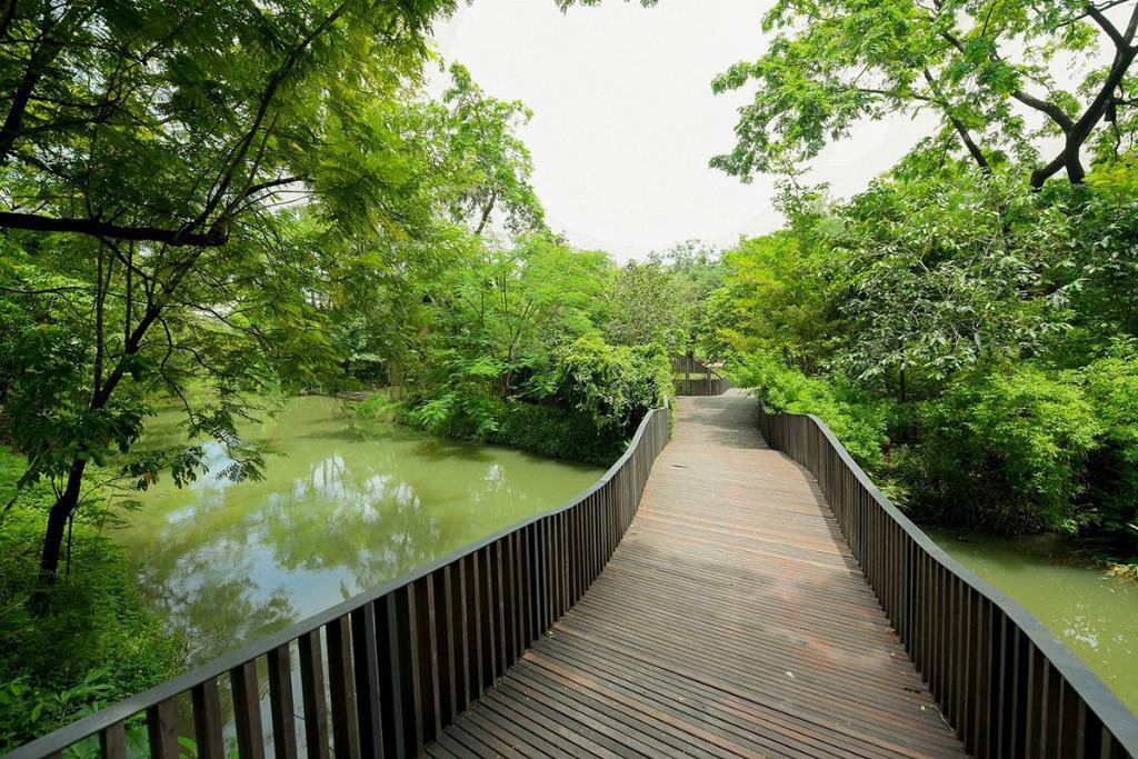 สะพานคลื่นนก สวนฯสิริกิติ์