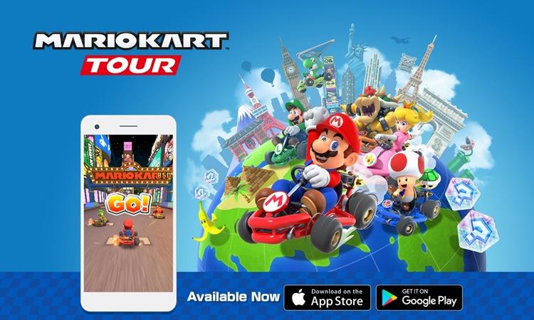 """มาแรง! """"Mario Kart Tour"""" ยอดโหลดพุ่งแซงทุกแอพฯของ นินเทนโด"""