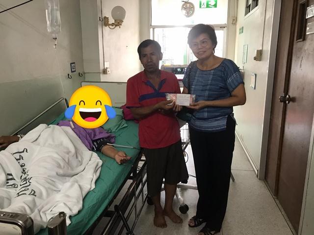 ประทับใจ! หมอรพ.ศูนย์อุดรธานี ร่วมใจลงขัน ให้ผู้ปวยมะเร็งเป็นค่าเดินทาง-รักษาพยาบาล