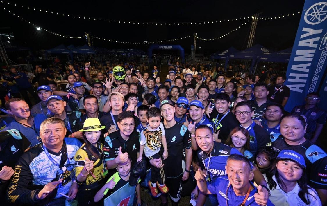 ยามาฮ่านำ การ์ตาราโร่ นักบิด MotoGP กระทบไหล่แฟนความเร็วชาวไทยใกล้ชิด