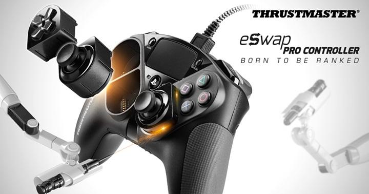 """เผยโฉม """"eSwap Pro Controller"""" จอยเกม PS4 เปลี่ยนชิ้นส่วนได้"""