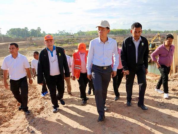 ผู้ว่าฯ สงขลา ลงติดตามโครงการบรรเทาอุทกภัยเมืองหาดใหญ่ เผยคืบหน้าแล้วกว่าร้อยละ 67