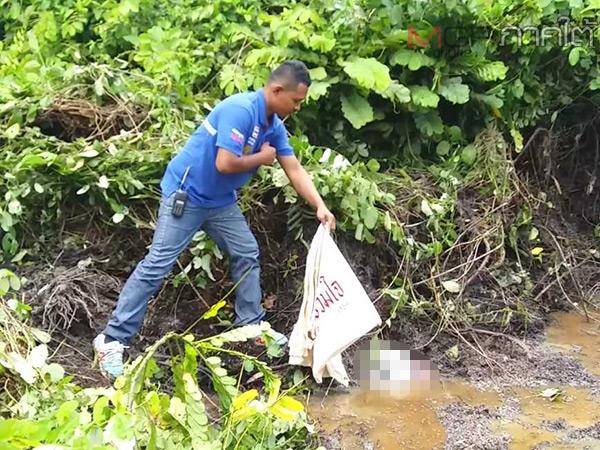 สลด! พบศพทารกแรกคลอดใส่ถุงโยนทิ้งป่าละเมาะทางเข้ารีสอร์ทเมืองคอน