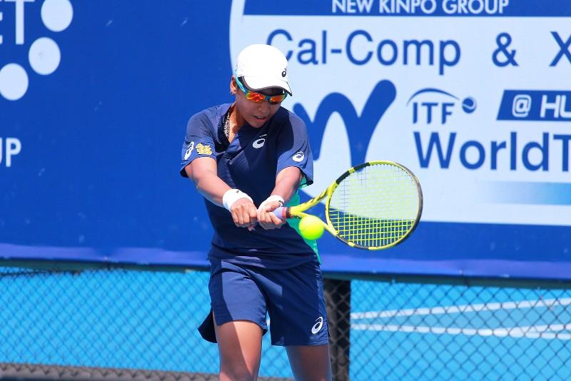 มนัญชญา สว่างแก้ว นักเทนนิสไทย หวดพ่าย อายูมิ โคชิอิชิ จากญี่ปุ่น