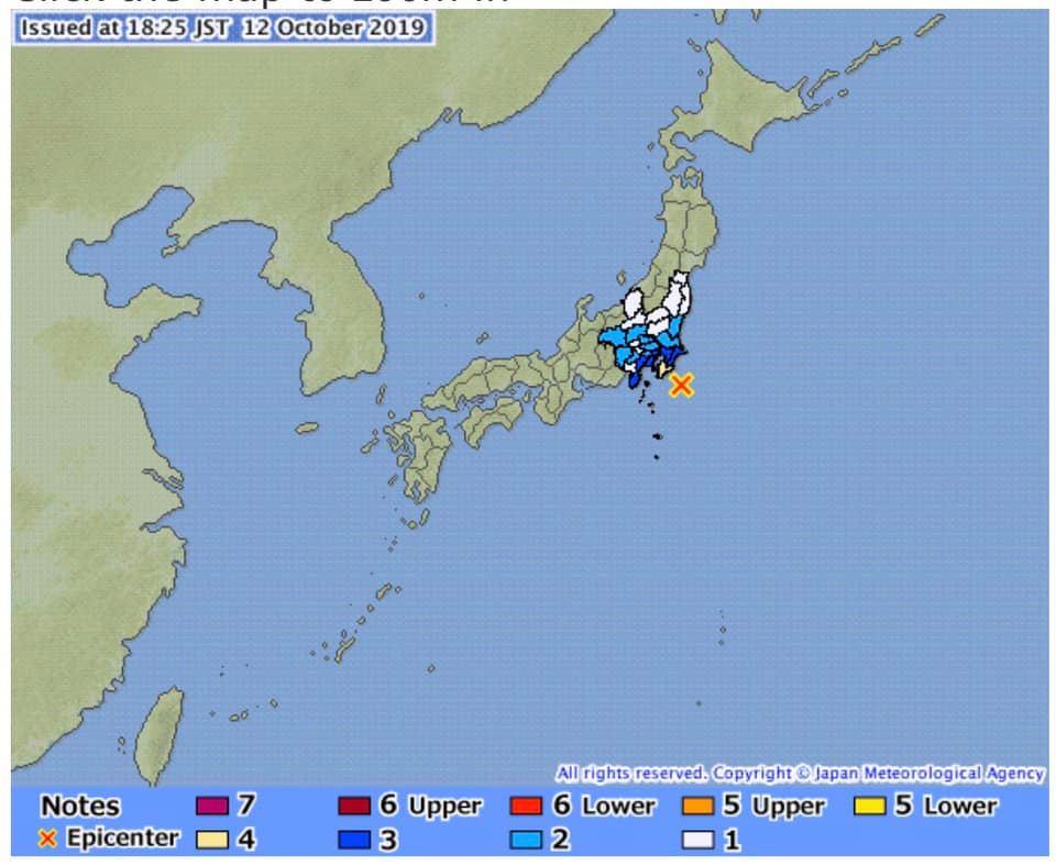 แผ่นดินไหวแรงสั่นสะเทือนระดับ 4 ศูนย์กลางที่ จ. ชิบะ ไม่มีรายงานคนไทยได้รับบาดเจ็บ