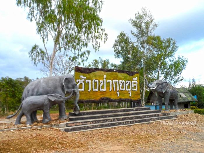 ช้างป่า (ปูน) จำลอง จุดถ่ายรูปคู่ของนักท่องเที่ยว