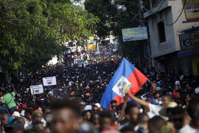 ชาวเฮติจำนวนมากเดินขบวนประท้วงขับไล่ผู้นำ