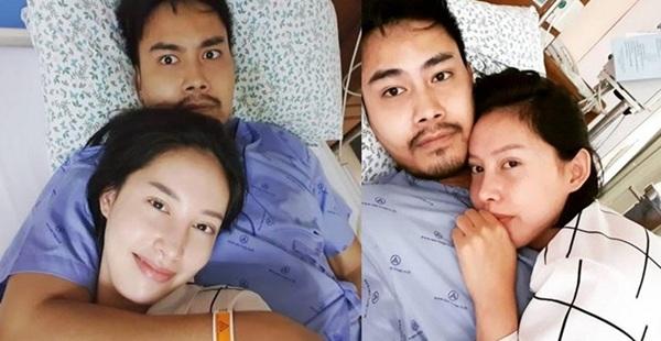 """ให้หมอ-พยาบาล เป็นสักขีพยาน! """"พีท"""" ยิ้มร่า """"เฌอเบลล์"""" เซอร์ไพรส์วันครบรอบ 1 ปี ที่โรงพยาบาล"""